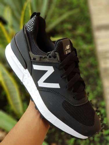 1929666ae5 Tenis Zapatillas New Balance 574 Sport Negra Hombre