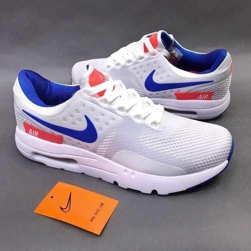 size 40 9c0ca fa4ac Tenis Zapatillas Nike Air Max Zero Blanca Azul Hombre