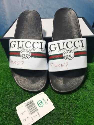 Chanclas Gucci 2018 Negra Blanca Hombre Envio Gratis e057e029ac9