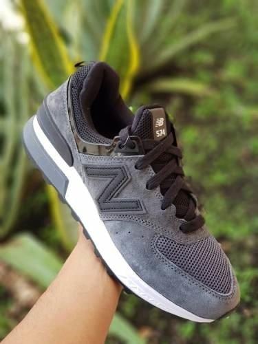 41043776af9 Tenis Zapatillas New Balance 574 Sport Gris Negra Hombre