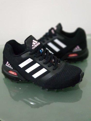 6de15ab67968a Tenis Zapatillas adidas Fashion Air Max Negra Blanca Mujer