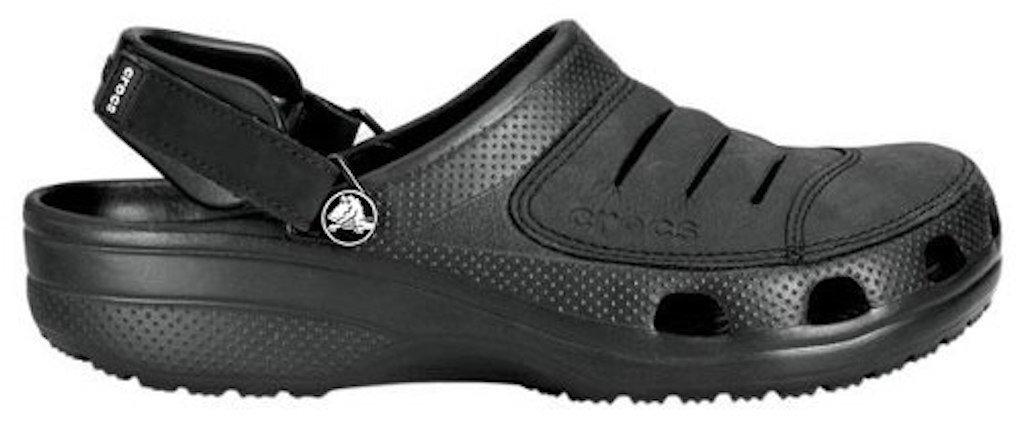 6ea3a2a873f Sandalias Crocs Yukon Cuero Negro Hombre Envio Gratis