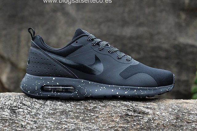 Tenis Zapatillas Nike Air Max Tavas Negra Hombre Env Gr 6985519fb09