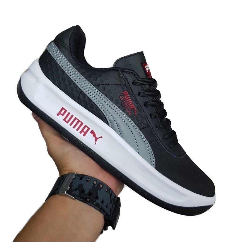 00f0e70dbf9 Tenis Zapatillas Puma California Gv Special Gris Blanca Hombre + Envio tenis  pumas california