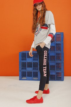 Remera Over College - Peperina