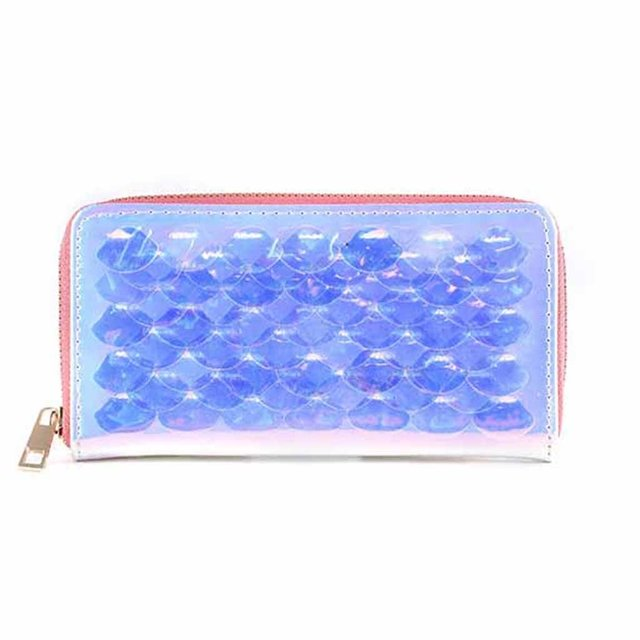 más baratas dc34d 72029 Billetera holografica con escamas transparentes dreams