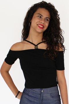 Blusa manga curta open shoulder