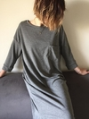 Vestido largo POCKET gris