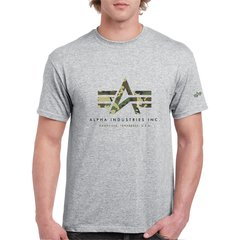 Remera Alpha Logo Camuflado - Alpha Industries Argentina