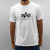 Remera Alpha Industries Logo blanco en internet