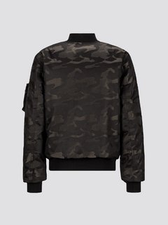 MA-1 Down Jacquard Black Camo única - Alpha Industries Argentina