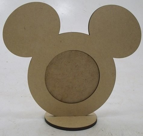 Porta Retrato Redondo Mickey Com Base