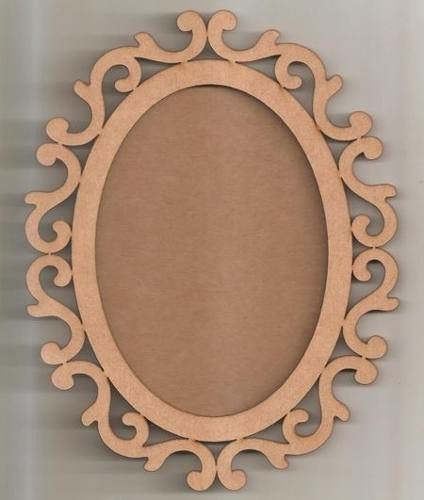 Moldura Oval Arabesco 78cm Com Fundo