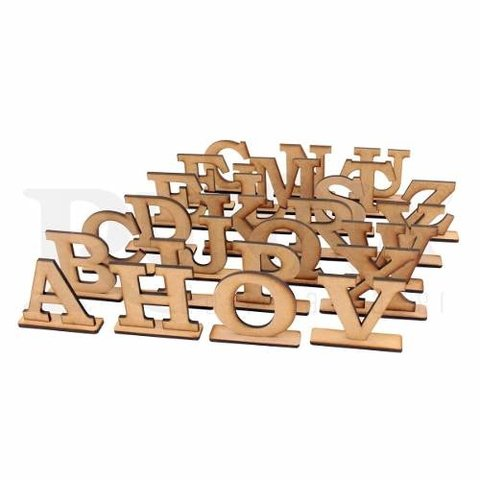 Letras 40cm Mdf 6mm Com Base - Pintado