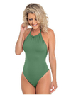 Swimsuit Single  Front Military Green