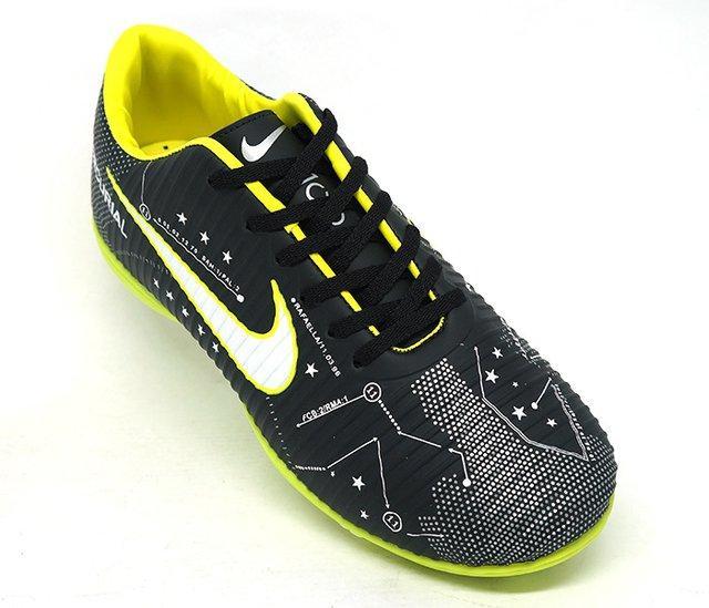 Chuteira Nike Mercurial Victory 6 Neymar Society Preto e Verde Limão 9586f26f20194