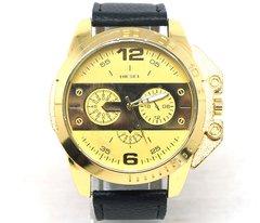 7bde7a9cfba Relógio Diesel Dourado com Pulseira de Couro