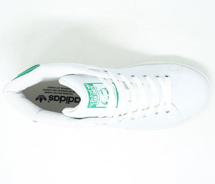 743593da07b Tênis Adidas Stan Smith Cano Alto Branco e Verde
