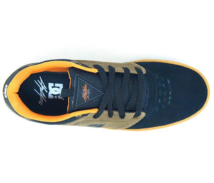 f42720eabc Tênis DC Shoes Cole Signature Couro Preto e Laranja