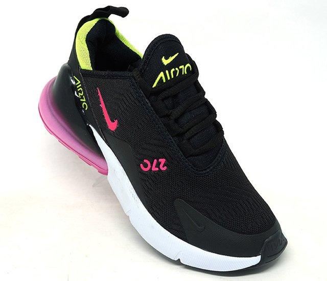 dc23fe7036 Tênis Nike Air Max 270 Preto e Rosa
