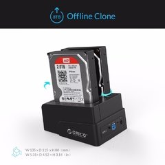 Imagem do ORICO Docking Station Dual USB 3.0 para SATA  HDD SSD