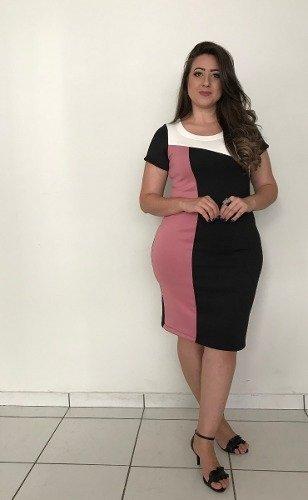 89d624af2 Vestido moda evangélica plus size com recortes