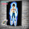 Cuadro Led Dragon Ball Vegeta Ultra Instinto Dominado (8114)