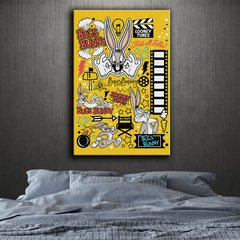 Cuadro Lienzo  Looney Tunes Collage Bugs Bunny (DECO-36)