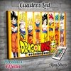 Cuadro Led Dragon Ball Goku Transformaciones (8116)