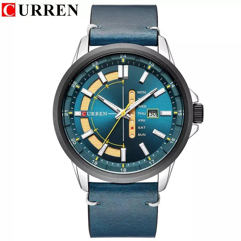 16f55076e6b Relógio De Pulso CURREN Masculino De Couro Original