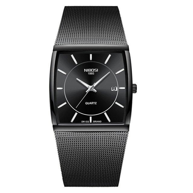 169959ced3cf7 Frete grátis. Relógio de pulso Unissex NIBOSI Luxo Malha Inoxidável