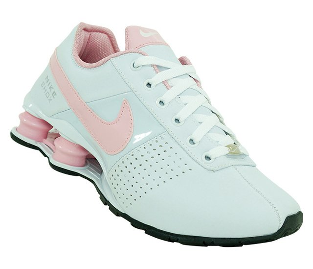 570254cce Tênis Feminino Nike Shox Deliver Branco e Rosa