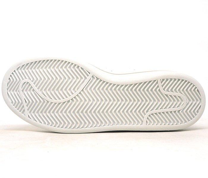 37bbf08a556 Tênis Adidas Stan Smith Cano Alto Branco e Dourado