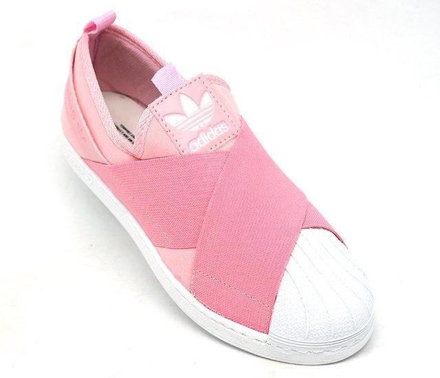 f31756f4973 Tênis Adidas Superstar Slip-On Rosa - CalvestemiX