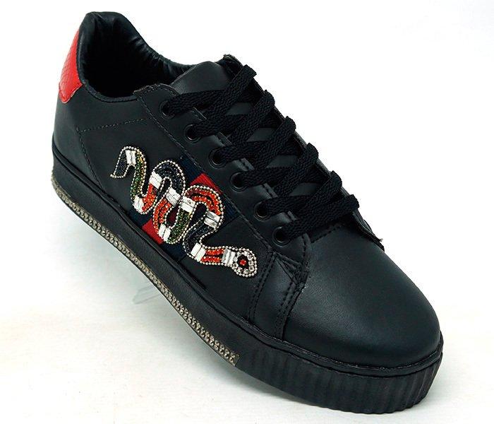 Tênis Gucci Ace Snake Preto - Comprar em CalvestemiX 690a71f4609