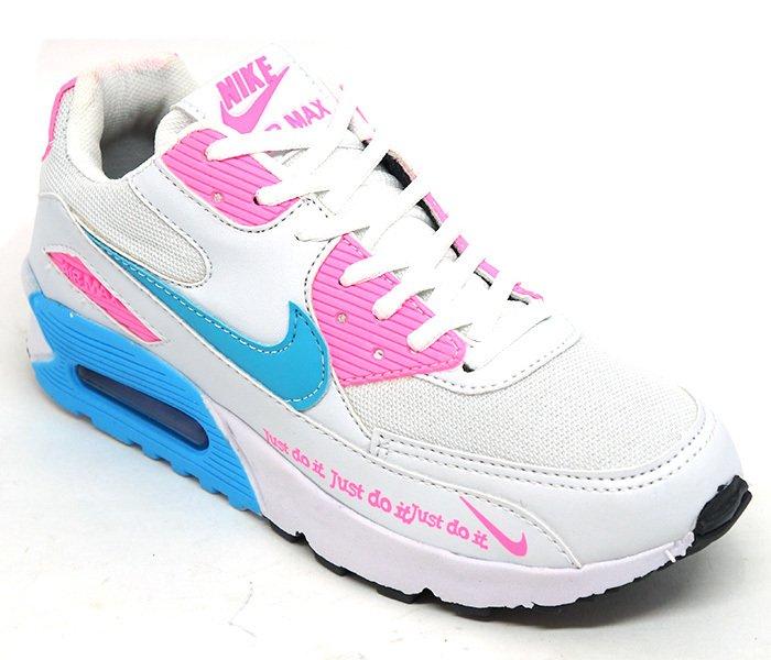 422bcf637da Tênis Feminino Nike Air Max 90 Branco e Rosa
