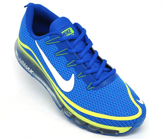 buy online 70a1f 1dab9 Tênis Nike Air Max Elite Azul Royal e Verde Limão