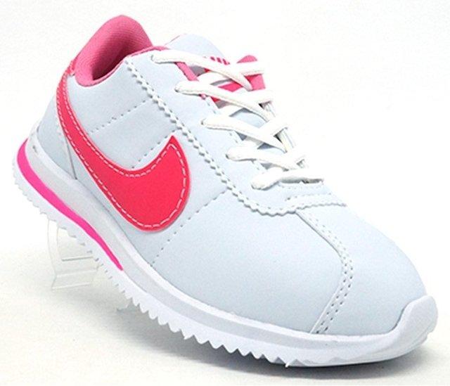 88023da4ea8 Tênis Feminino Nike Classic Cortez Branco e Rosa