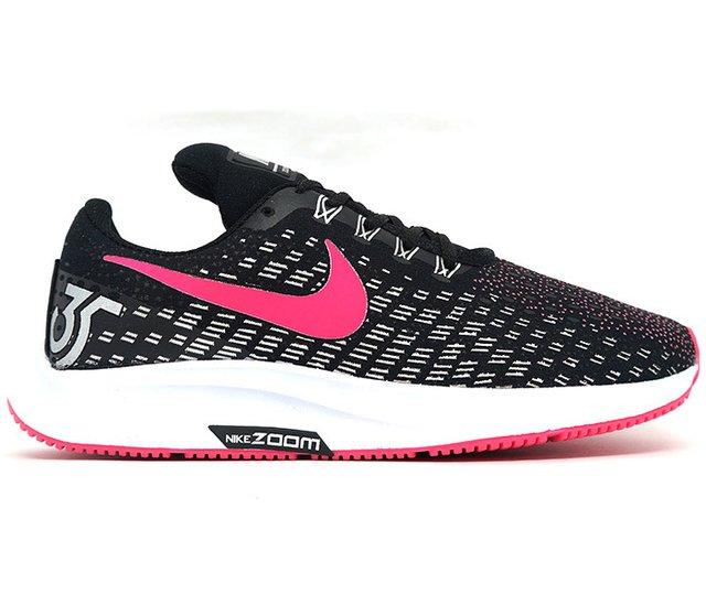 c1191fbc94 Tênis Feminino Nike Air Zoom Pegasus 35 Preto e Pink