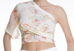 TOP ONE SHOULDER DE SEDA NATURAL - comprar online