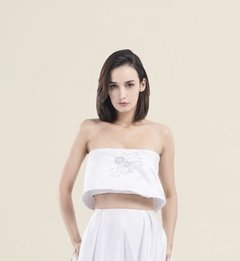CROP TOP SPTRALESS DE RASO