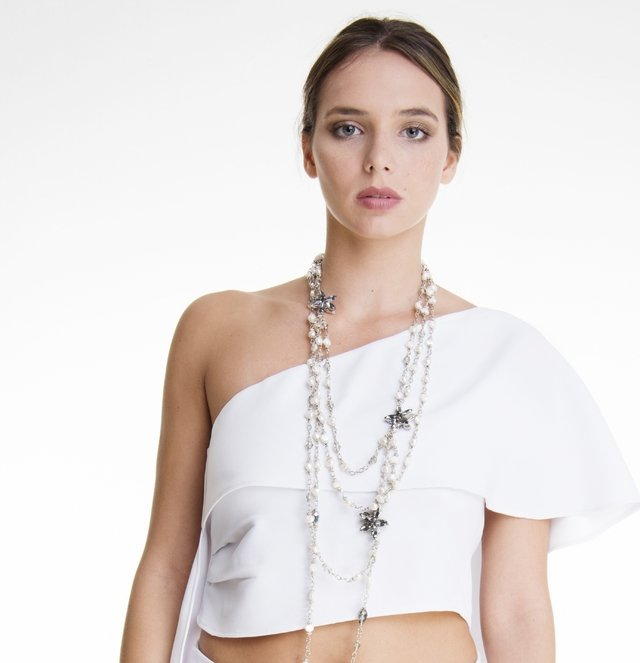 TOP ONE SHOULDER EN CREPE - comprar online