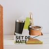Set de mate vaqueta