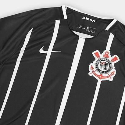... Camisa Corinthians Torcedor 2016 17 Preta na internet fd1fe13d21f54