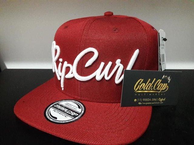 96f477606cf84 Bone aba reta Rip Curl snapback - Comprar em Gold Cap