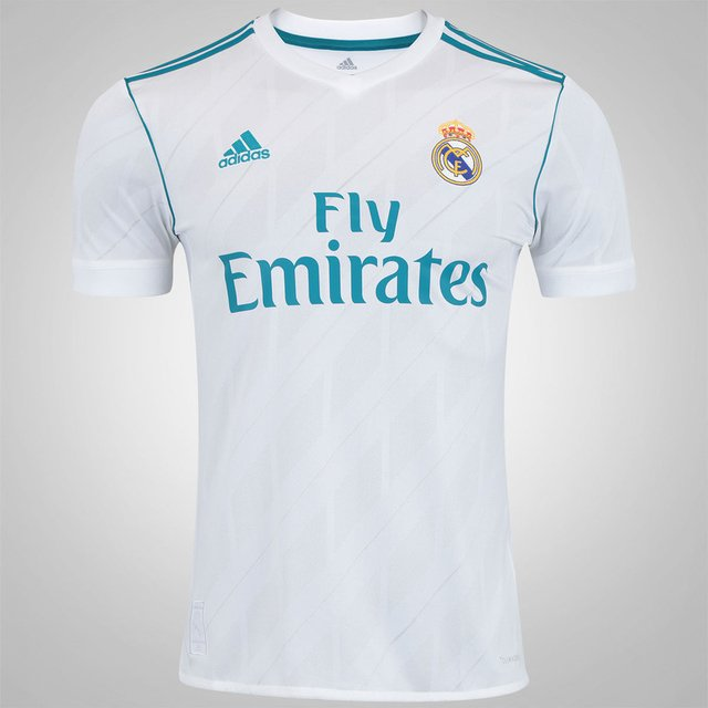 Camisa Real Madrid I 17 18 adidas - Masculina f592d216d04aa
