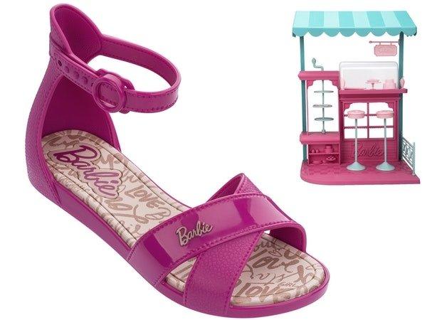 2271619e7 Sandalia Menina Grendene Barbie 21921 Rosa Confeitaria