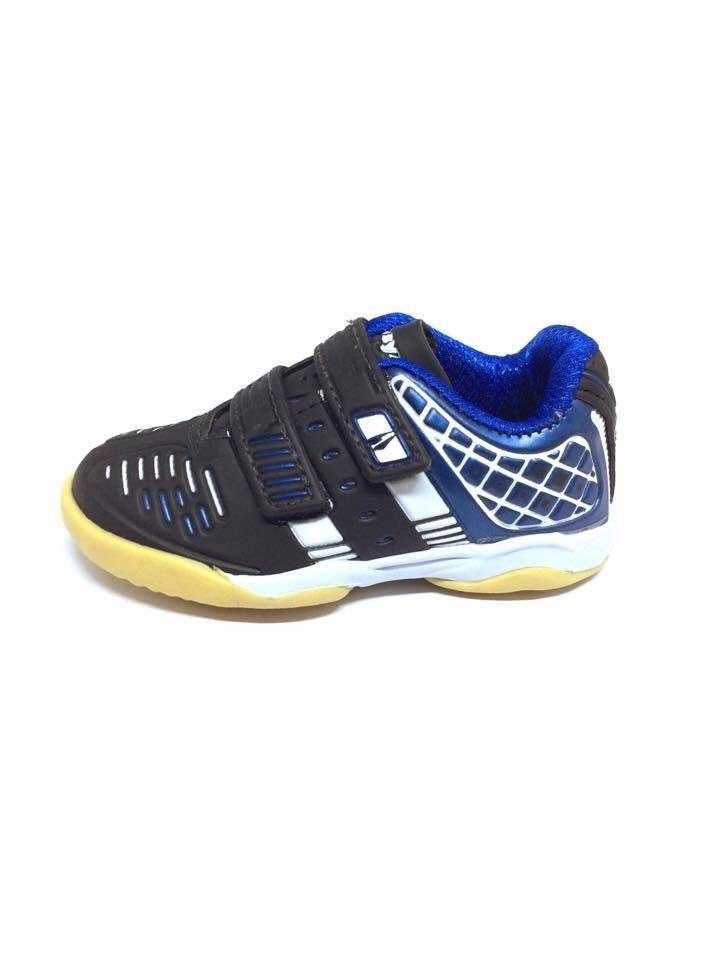 fb83827413 Tenis Futsal Drayzinho Infantil Preto Azul