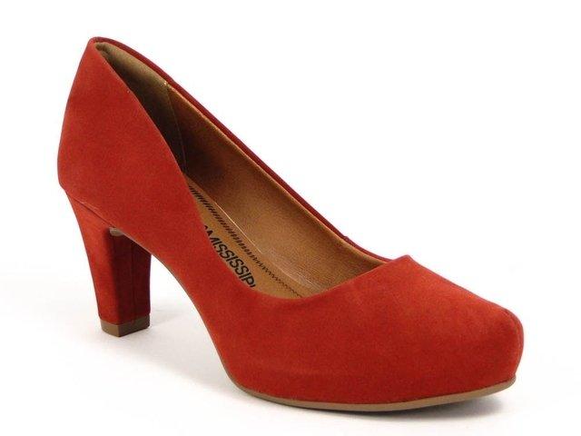abc6f58ab8 Promoção Sapato Feminino Mississipi Vermelho X4794 Couro
