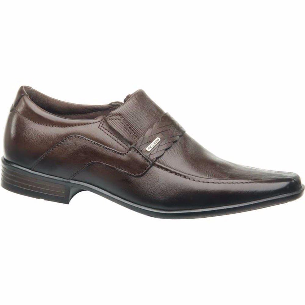 f0fd65941a1 Sapato Social Masculino Pegada Couro Brown 121853-03